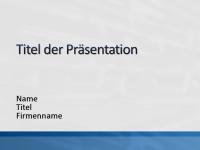 """Beispielpräsentationsfolien (Design """"Weiß mit blauem Streifen"""")"""