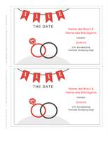 Karte zum Vormerken des Hochzeitstermins