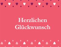 Karte zum Valentinstag (zwei Mal gefaltet)