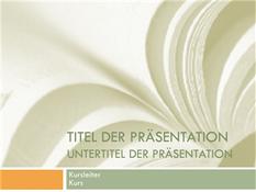 """Wissenschaftliche Präsentation für einen Hochschulkurs (Design """"Lehrbuch"""")"""