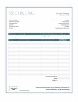 """Dienstleistungsrechnung (Design """"Blauer Rahmen"""")"""