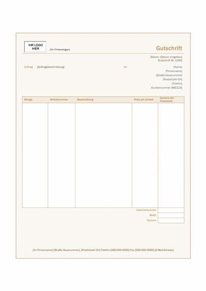 """Gutschrift (Design """"Siena"""")"""