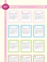 2015 - Jahreskalender (Mo-So)