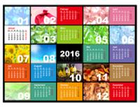 Jahreskalender für 2016 (Mo-So)