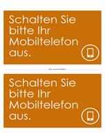 """Poster """"Handys ausschalten"""" (orange)"""