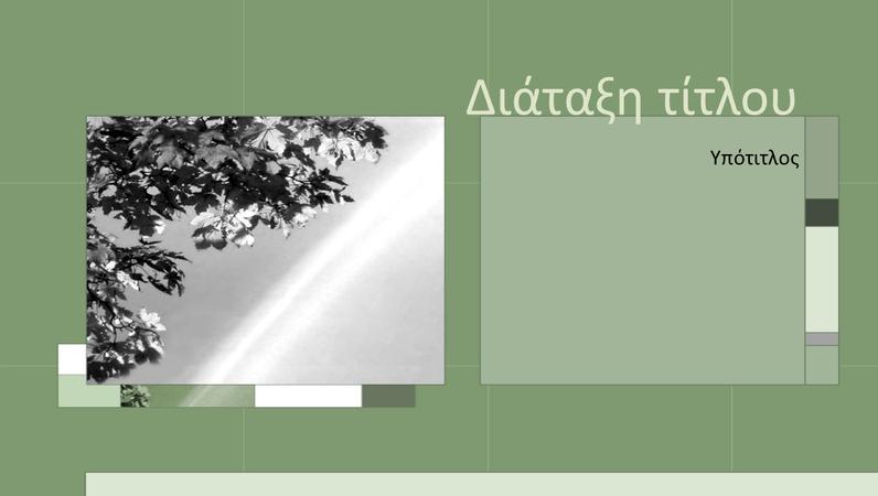 Οι εποχές σε διαφάνειες γκριζοπράσινης σχεδίασης
