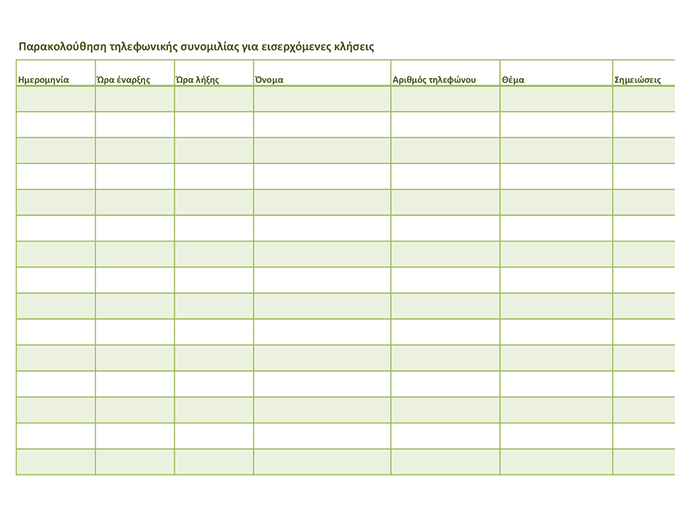 Παρακολούθηση τηλεφωνικής συνομιλίας (για εισερχόμενες κλήσεις και εξερχόμενες κλήσεις)