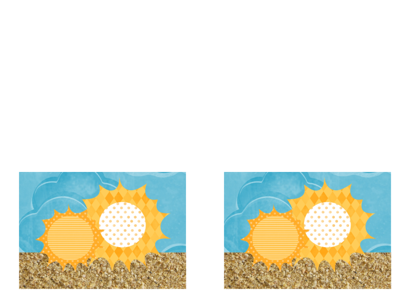 Πρόσκληση (σχέδιο με ήλιο και άμμο)