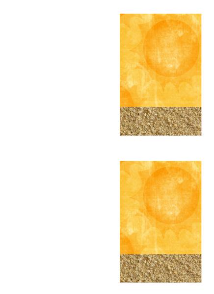 Ευχαριστήρια κάρτα (σχέδιο με ήλιο και άμμο)
