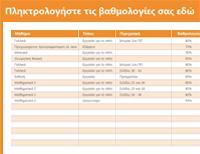 Πρόγραμμα παρακολούθησης βαθμολογίας και μέσου όρου των σπουδαστών