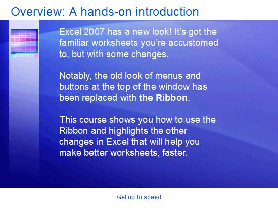 Εκπαιδευτική παρουσίαση: Excel 2007—Γνωρίστε το