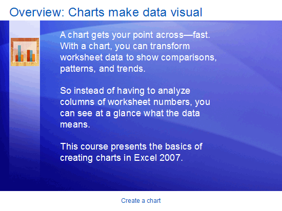 Εκπαιδευτική παρουσίαση: Excel 2007—Δημιουργία γραφήματος