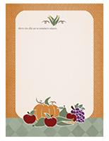 Επιστολόχαρτο (σχέδιο με φρούτα και καρπούς)