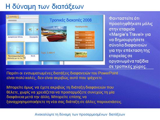 Εκπαιδευτική παρουσίαση: PowerPoint 2007—Ανακαλύψτε τη δύναμη των προσαρμοσμένων διατάξεων