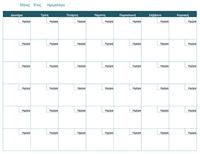 Κενό μηνιαίο ημερολόγιο
