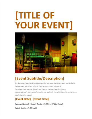 Event flyer (orange)
