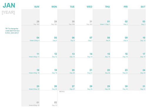 Online homework calendar
