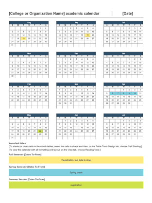 2014 2015 academic calendar office templates for Ms office calendar template 2015