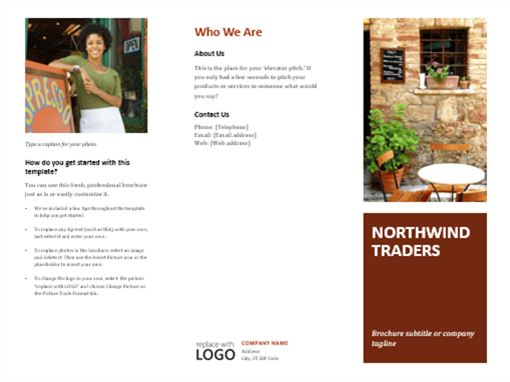 Business Tri Fold Brochure  Microsoft Word Tri Fold Brochure Template