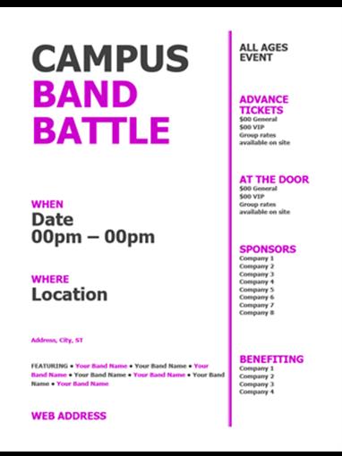Student flyer (pink, black bold design)