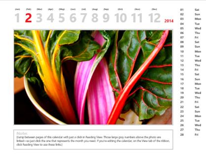 2014 photo calendar