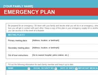 Family emergency plan