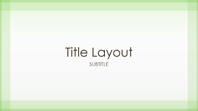 Sheer green border design presentation (widescreen)