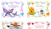 Kids Valentine's Day cards (24 designs)