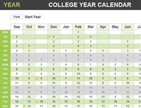 College year calendar