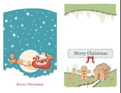Cartes format bristol pour Noël