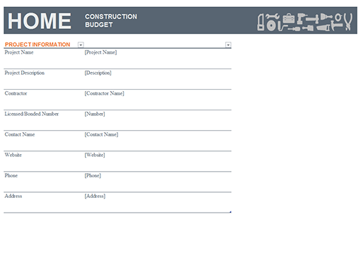 Home construction budget for Home construction checklist template