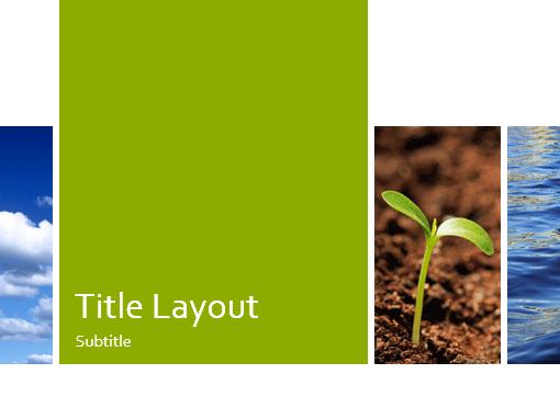 Ecology presentation (nature design, widescreen)