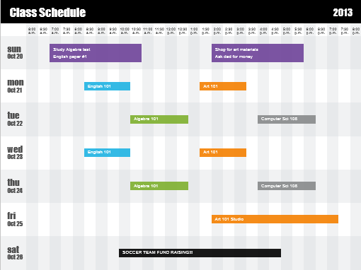 pill schedule template