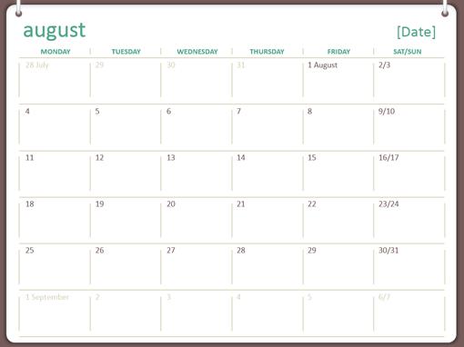 2014-2015 academic calendar (August-July)