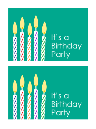 Birthday invitation postcards