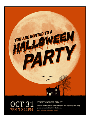 Halloween flyer - Office Templates
