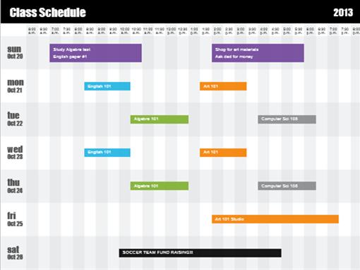 class schedules templates