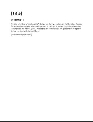 Report design blank template