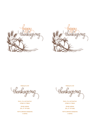 Thanksgiving invitation office templates thanksgiving invitation templates cards thanksgiving invitation stopboris Gallery