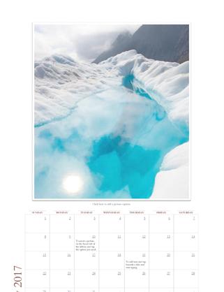2017 photo calendar (Sun-Sat)