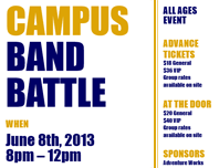 Student flyer (blue and gold)