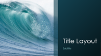 Ocean waves nature presentation (widescreen)