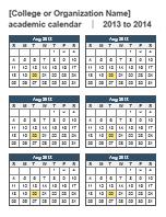 2014 academic calendar