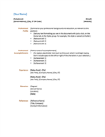 Resume (Functional design)