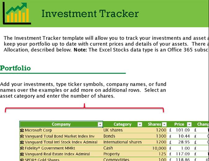 Investment tracker