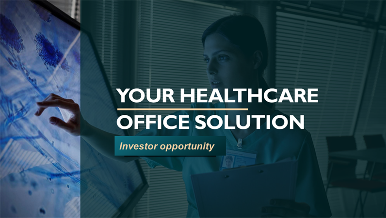 Healthcare business pitch deck