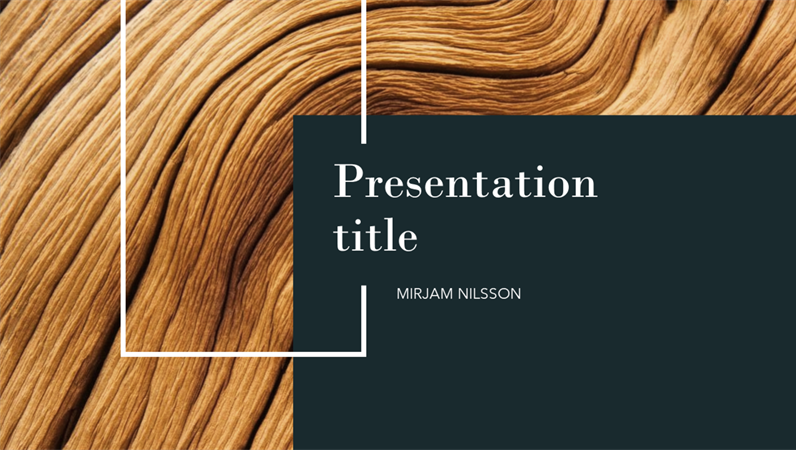 Dark wood presentation