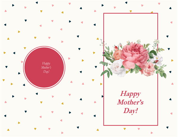 Retro roses Mother's Day card