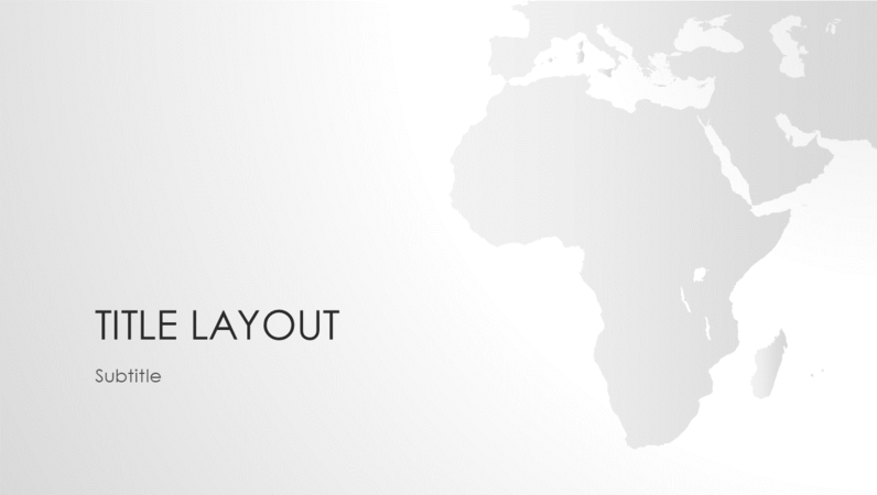 World maps series, African continent presentation (widescreen)
