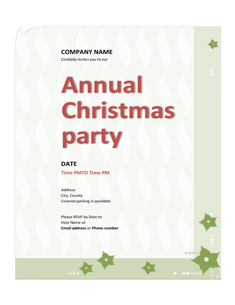 Company Christmas party invitation